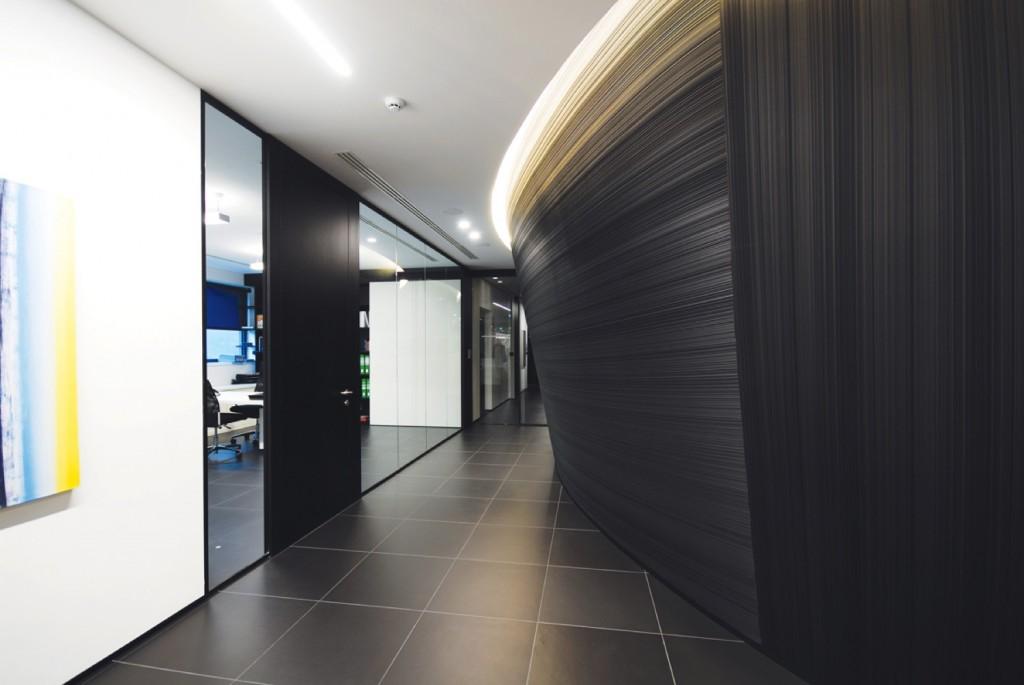 pareti divisorie mobili attrezzate per ufficio in vetro e